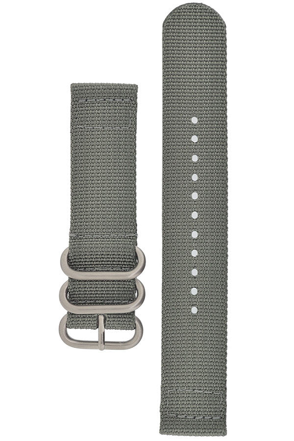 ZULU Nylon 2-Piece Watch Strap in GREY