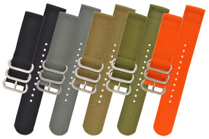 ZULU Nylon 2-Piece Watch Strap in BLACK