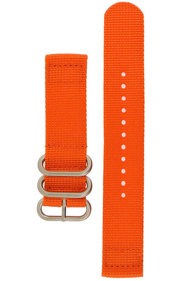 ZULU Nylon 2-Piece Watch Strap in ORANGE