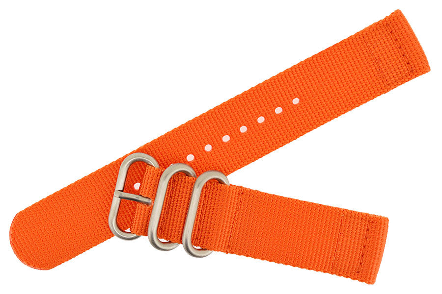 ZULU Nylon 2 Piece Watch Strap in ORANGE