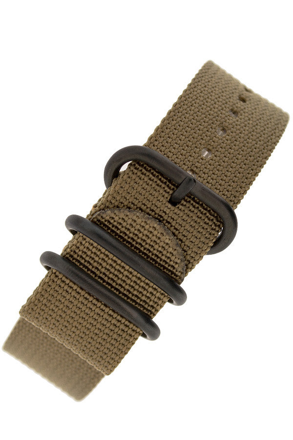 Load image into Gallery viewer, ZULU Nylon 5 PVD Ring Watch Strap in SAND BROWN