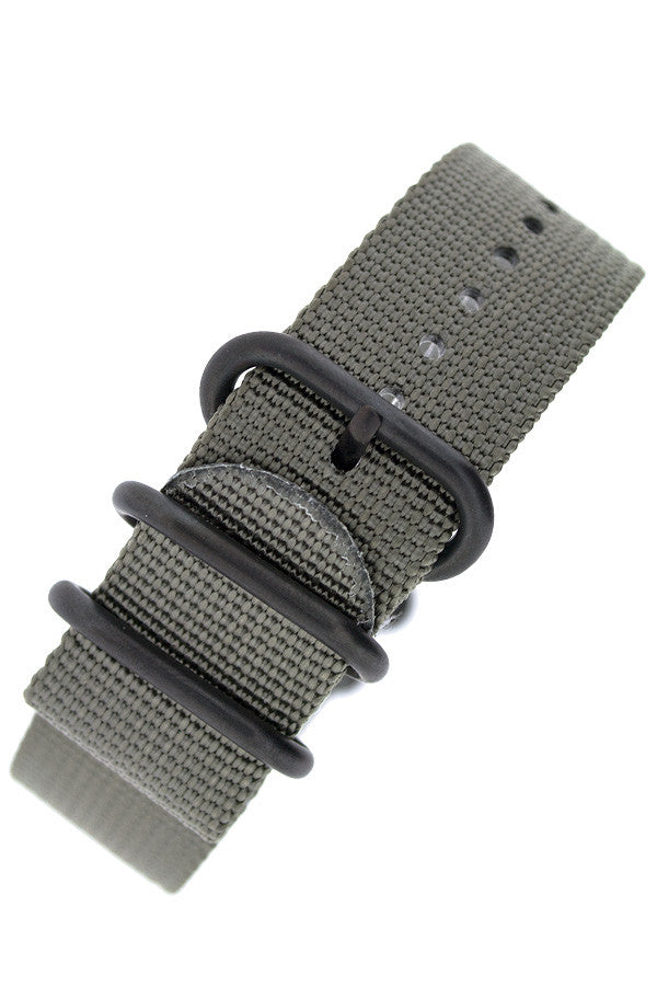 ZULU Nylon 5 PVD Ring Watch Strap in GREY