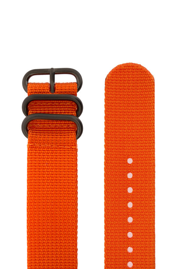 ZULU Nylon 5 PVD Ring Watch Strap in ORANGE