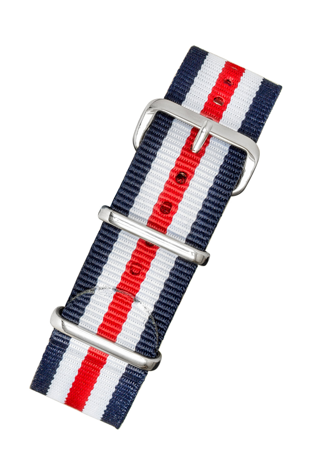 NATO Watch Straps in BLUE/WHITE/RED Thin Stripes