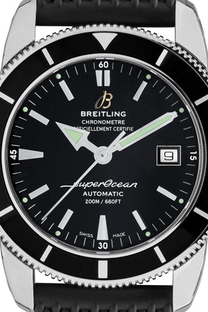 BREITLING Superocean Héritage 42 Automatic Watch - Black Dial & Rubber Strap