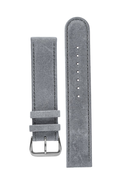 Di-Modell Natural Hypoallergenic Leather Watch Strap in Grey