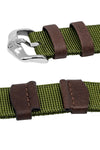 Hirsch REBEL Nylon NATO-Style Watch Strap in GREEN