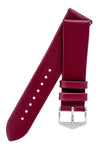 Hirsch TORONTO Fine-Grained Leather Watch Strap in BERRY