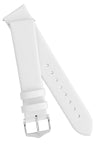 Hirsch TORONTO Fine-Grained Leather Watch Strap in WHITE