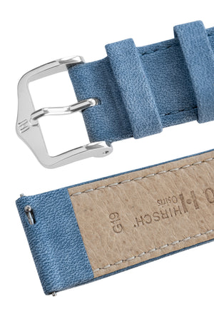 Hirsch Osiris Limited Edition Calf Leather With Nubuck Effect Watch Strap in Blue (Quick-Release Mechanism)