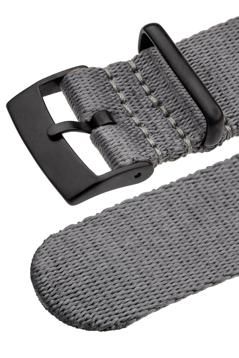 Premium NATO Watch Strap in GREY with Black PVD Hardware