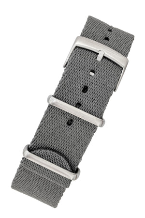 Premium NATO Watch Strap in GREY with Brushed Hardware
