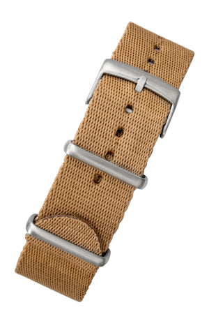 Premium NATO Watch Strap in SAND with Brushed Hardware