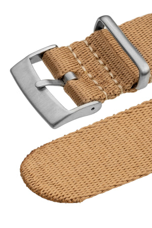 Load image into Gallery viewer, Premium NATO Watch Strap in SAND with Brushed Hardware