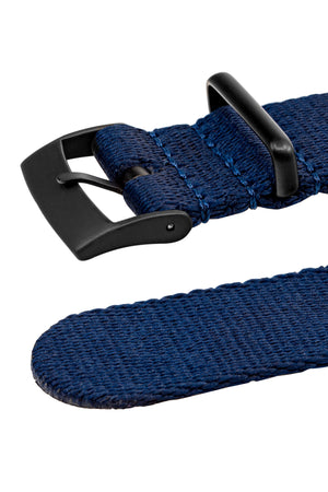 Premium NATO Watch Strap in NAVY BLUE with Black PVD Hardware