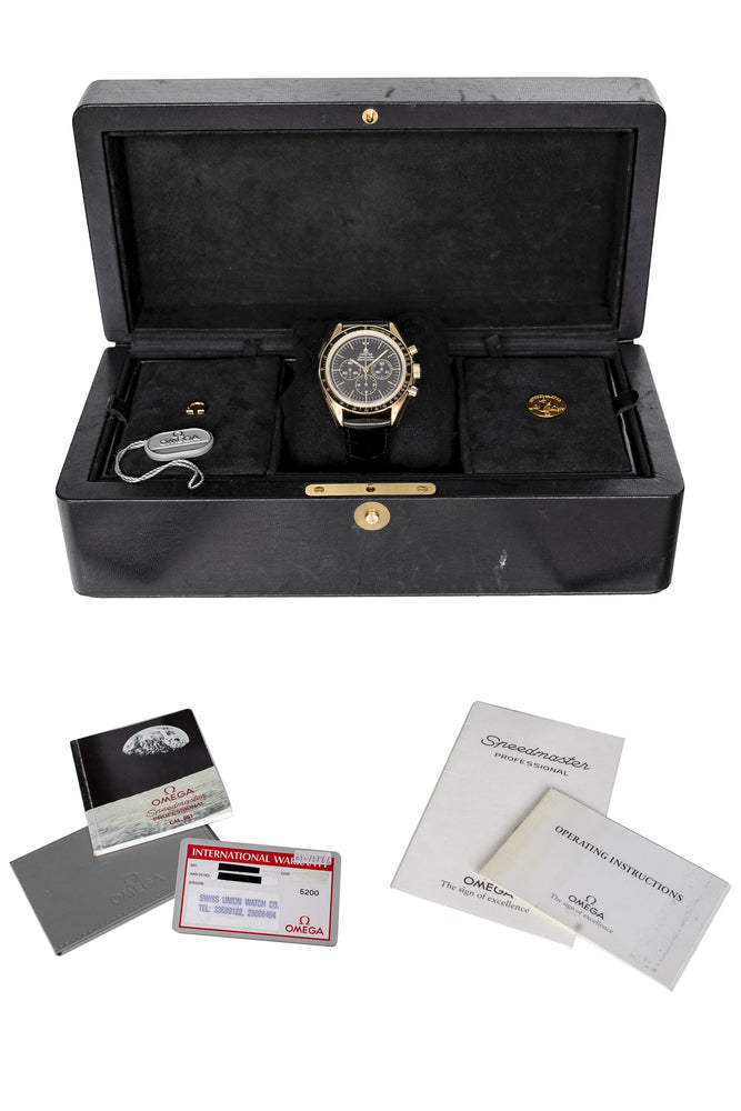 Load image into Gallery viewer, OMEGA 3691.50 Speedmaster 27 CHRO C12 Jubilee 1992 - 18K Gold & Black Dial
