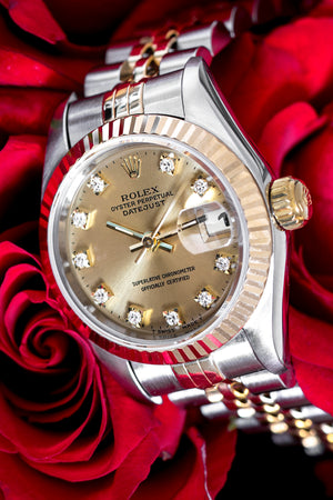 Load image into Gallery viewer, ROLEX DateJust 69173 Ladies Automatic Bi Metal Watch - Diamond Dot Dial