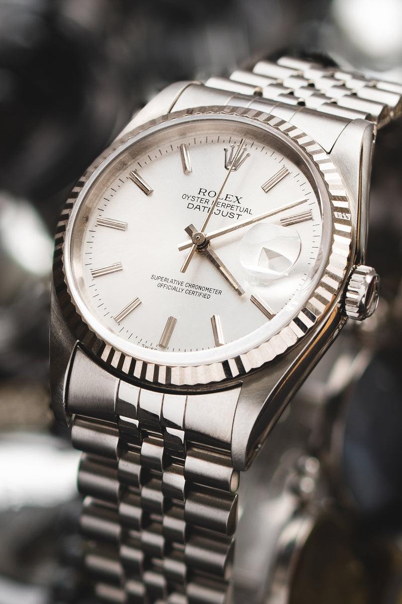 ROLEX Datejust 16234 Stainless Steel Watch – Silver Dial