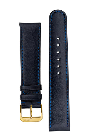 Rios1931 ARIZONA Genuine Saddle Leather Hook-On Watch Strap in OCEAN BLUE