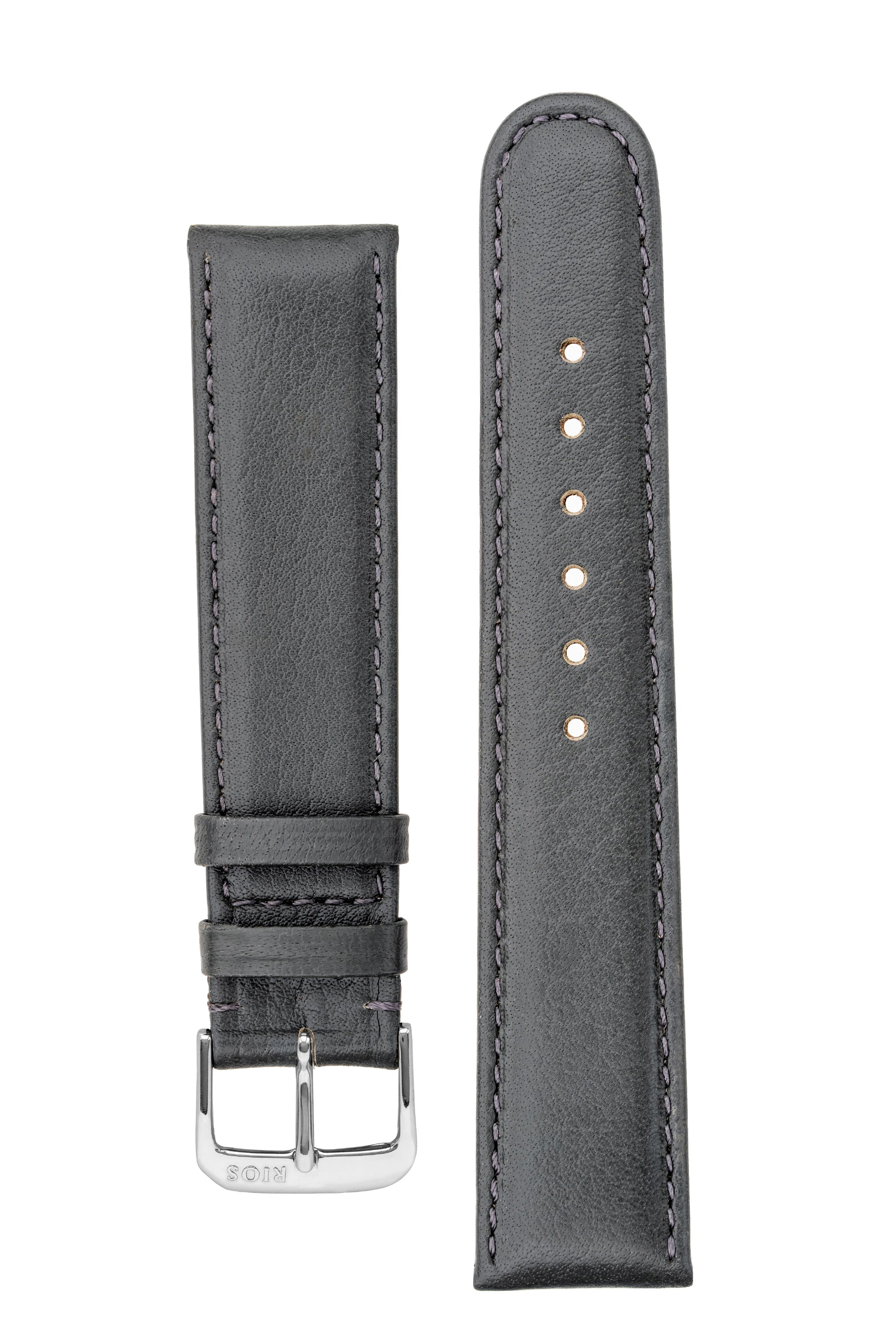 Rios1931 ARIZONA Genuine Saddle Leather Quick-Release Watch Strap in STONE GREY