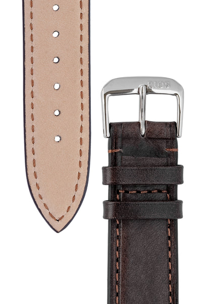 Rios1931 TULA Genuine Russia Leather Bund Watch Strap in MOCHA