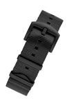 Seatbelt NATO Nylon Watch Strap in BLACK with BLACK PVD Hardware