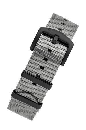 Load image into Gallery viewer, Seatbelt NATO Nylon Watch Strap in GREY with BLACK PVD Hardware