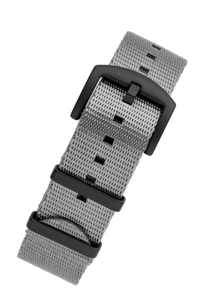 Seatbelt NATO Nylon Watch Strap in GREY with BLACK PVD Hardware