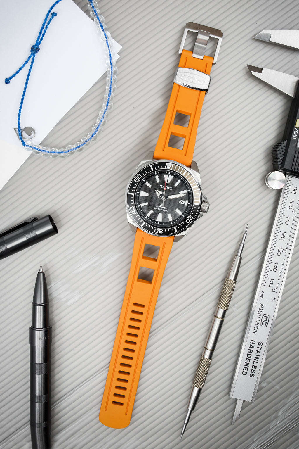 CRAFTER BLUE Universal 22mm Watch Strap for Professional Dive Watch – ORANGE