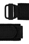 Tactical Hook & Loop Nylon Watch Strap in BLACK
