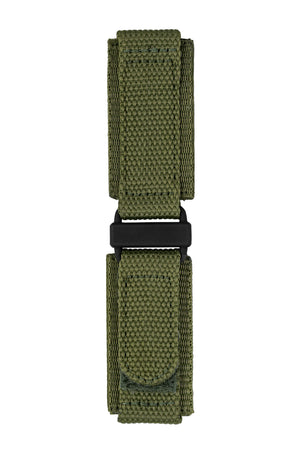 Tactical Hook & Loop Nylon Watch Strap in OLIVE GREEN