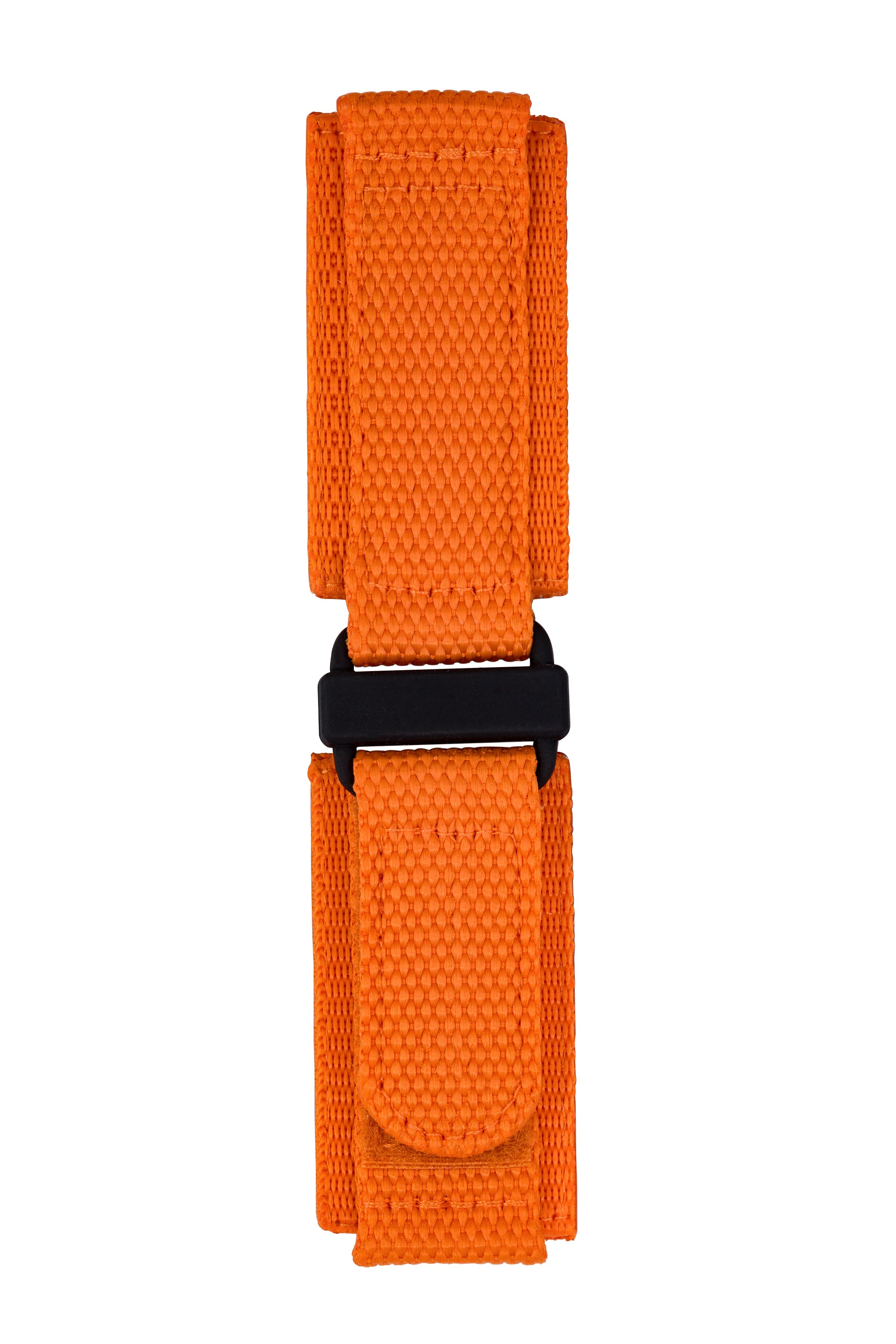 Tactical Hook & Loop Nylon Watch Strap in ORANGE