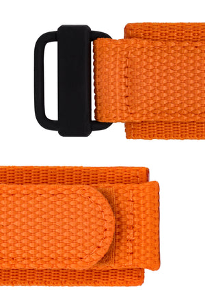 Load image into Gallery viewer, Tactical Hook & Loop Nylon Watch Strap in ORANGE