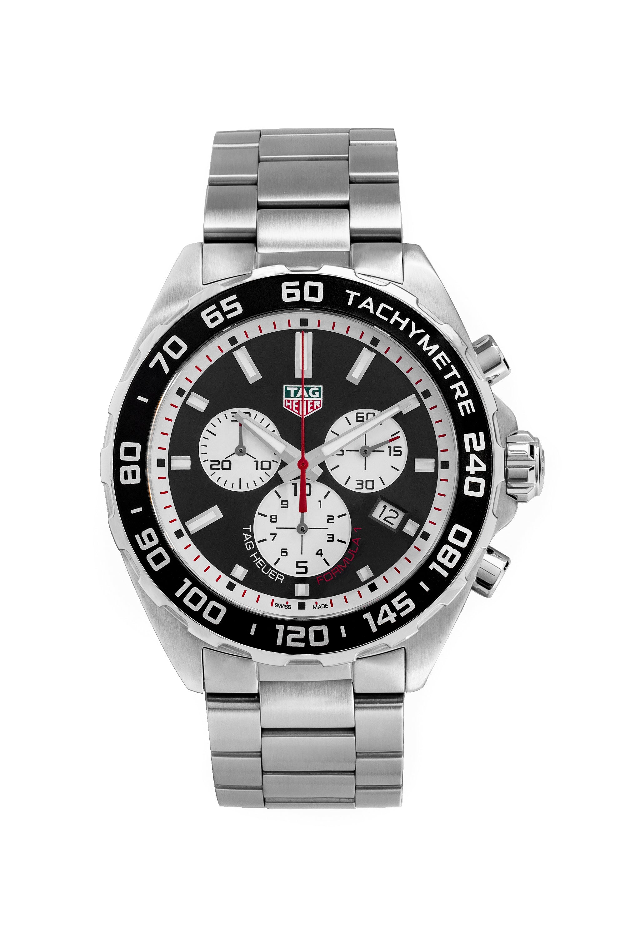 TAG HEUER CAZ101E.BA0842 Formula 1 Quartz Watch 43mm – Black Dial & White Sub-Dials