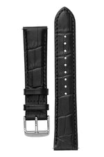TAPSTRAP Crocodile-Embossed Leather Watch Strap for Contactless Payments - BLACK