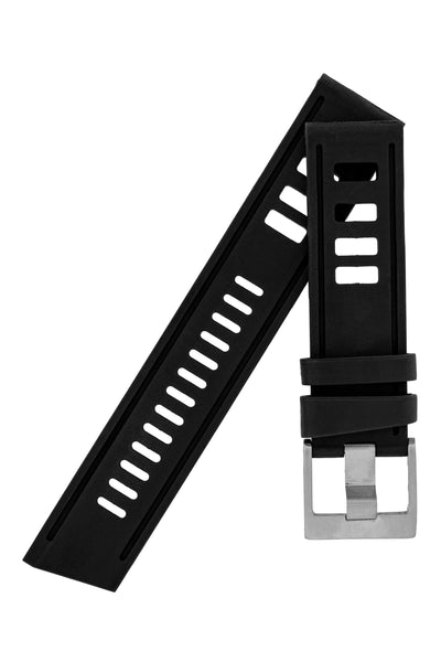 VINTAGE '67 Rubber Dive Watch Strap in BLACK