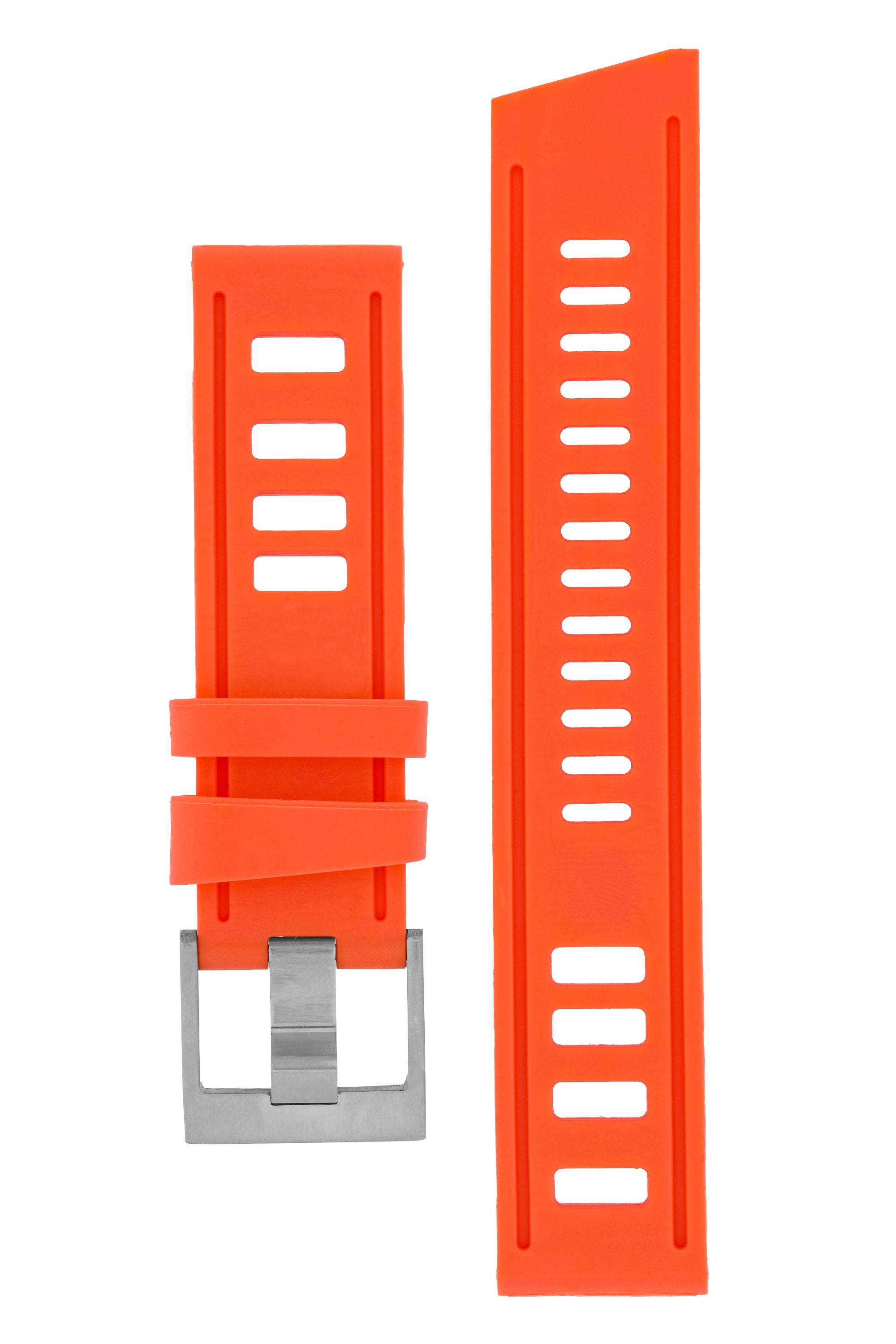 VINTAGE '67 Rubber Dive Watch Strap in ORANGE