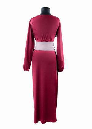 Heidi Maxi Dress Aubergine And Blush