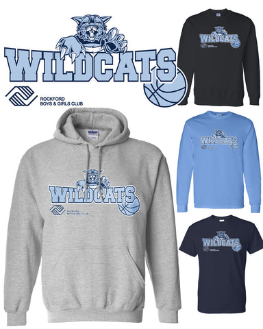 Wildcats Classic Logo Hoodies, Crews & Tee Shirts