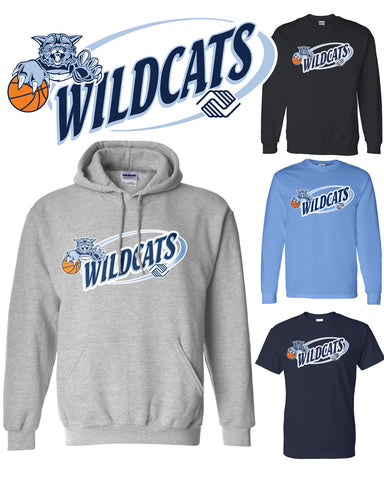 Wildcat Swirl Logo Apparel