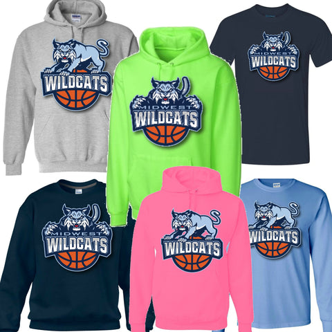 Large Full & Half Cat Logo Hoodies, Crews & Tee Shirts