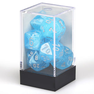 7-die-set Luminary Blue/Silver Glow in the Dark - Conundrum House