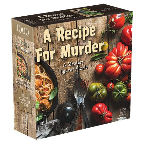 Rental, Mystery Jigsaw Puzzle - Rental - Puzzle: Recipe for Murder 1000 pc - Conundrum House