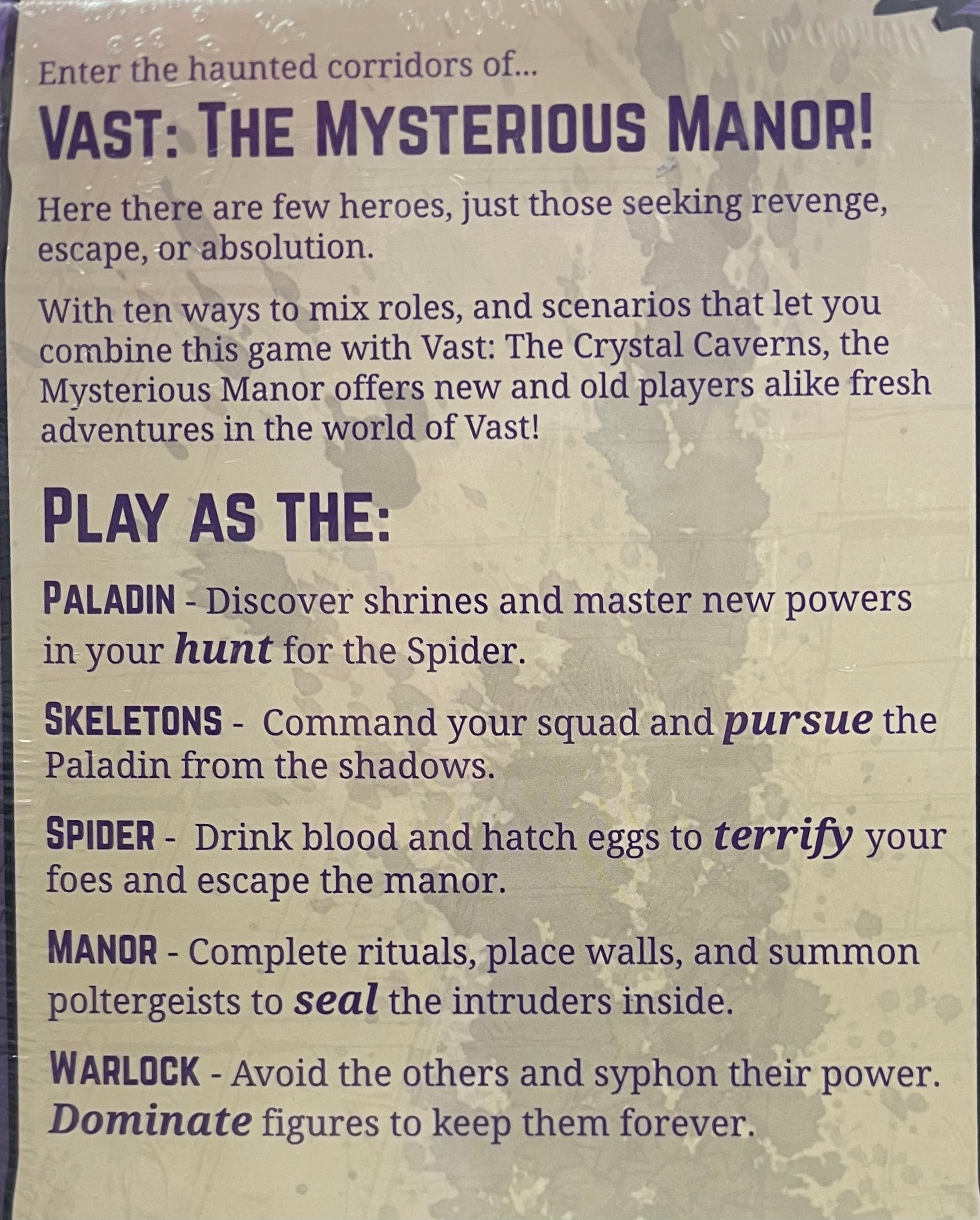 Rental - Vast: The Mysterious Manor (Standalone Game)