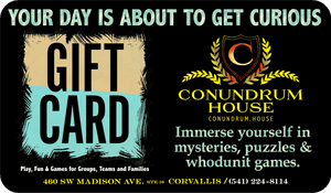 All Access Gift Card - Conundrum House