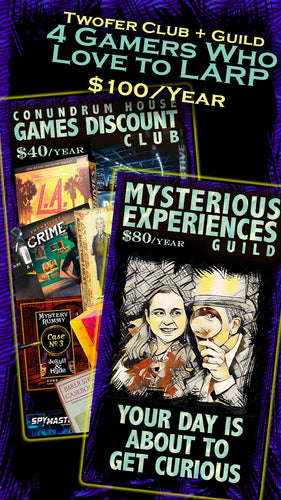Conundrum House Games Discount Club + LARPing Guild Twofer