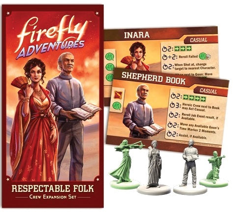 Board Game, Expansion, EXPANSION-SET-BASE-REQUIRED - Firefly Adventures: Respectable Folk Crew Expansion Set - Conundrum House
