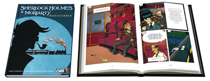 Graphic Novel Adventures Season #2- Book 1 - Sherlock Holmes & Moriarty: Associates. Conundrum House
