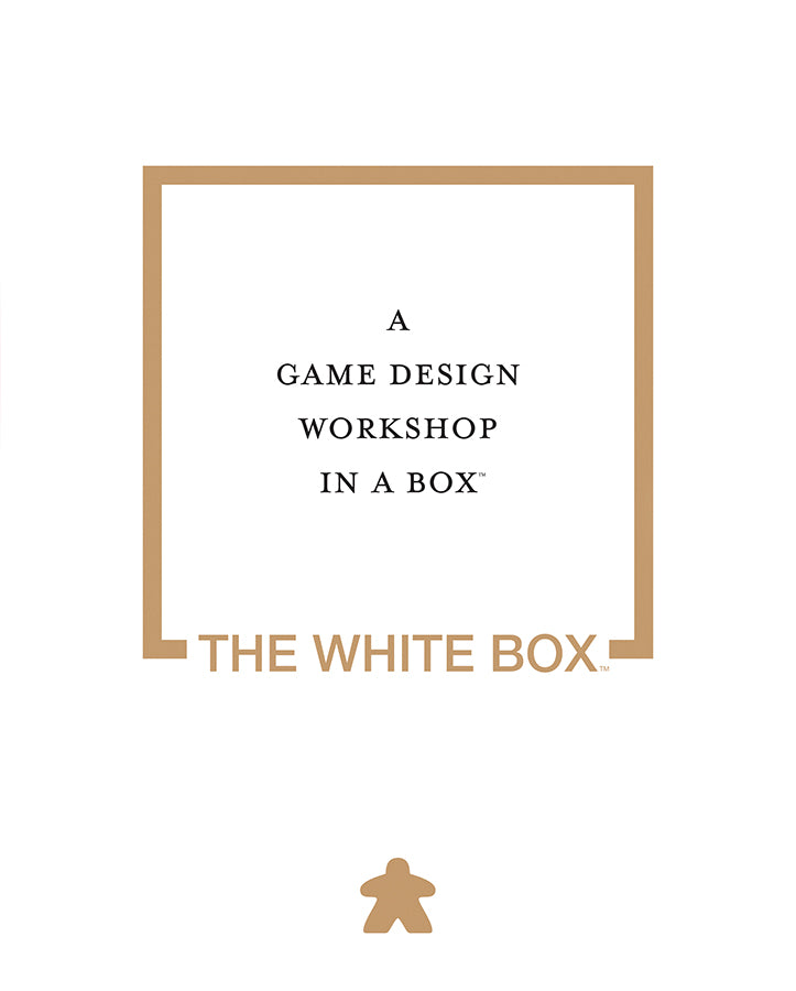 RPG, DIY - Rental - The White Box: A Game Design Kit In a Box - Conundrum House