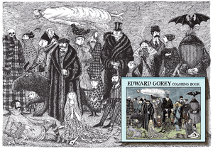 Edward Gorey Coloring Book - 10% OFF this product in June! - Conundrum House